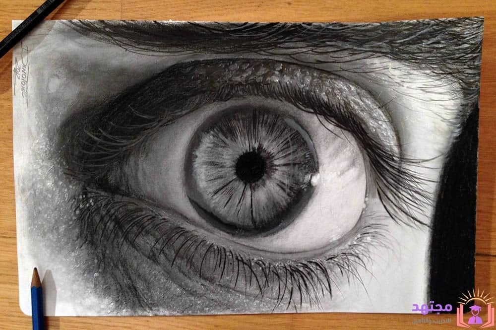 تعليم رسم العين تعلم رسم العين خطوة بخطوة طريقة تعليم رسم العين