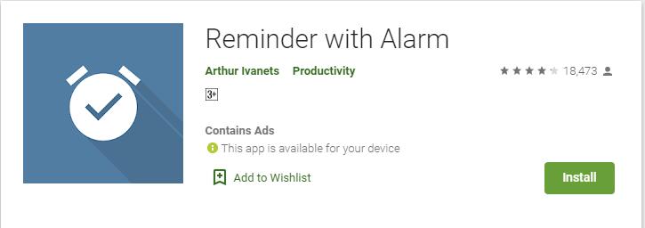 أفضل تطبيق للتذكير بالمهام و الأعمال اليومية بجدول منتظم Reminder with Alarm